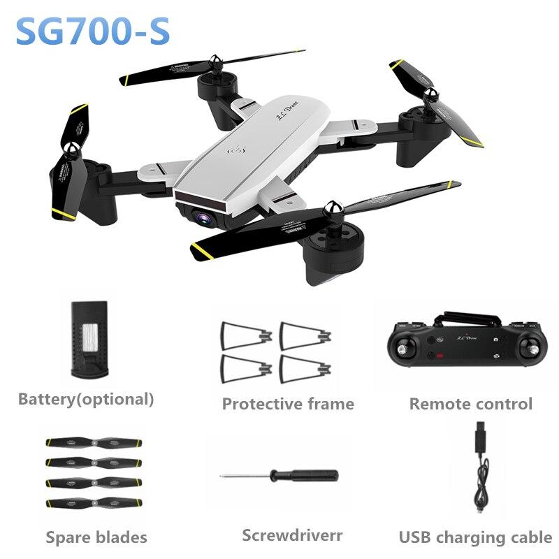 SG700-S RC Hélicoptère Large-angle WiFi 1080 p Optique Flux Double Caméra Selfie Drone Palm Contrôle Quadcopter Jouets Volants vs xs809hw