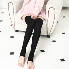 New Breathable Lady Compression Knee Women Knit Long Boot Socks Over The Knee High Slim Leg Thigh Stockings New fashion Women(China)