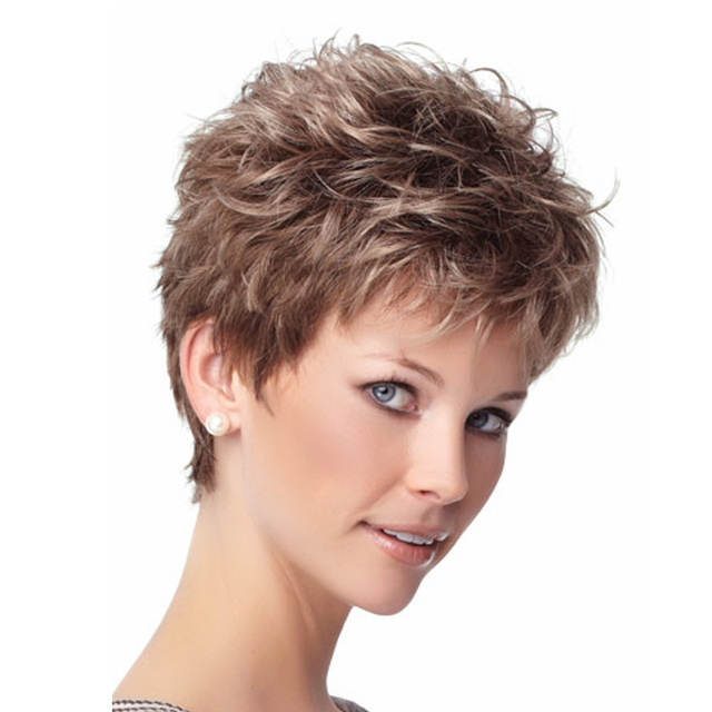 Cheap heat resistant synthetic short hair curly wigs for black women peluca  cosplay synthetic women best natural looking wigs cd777f5489