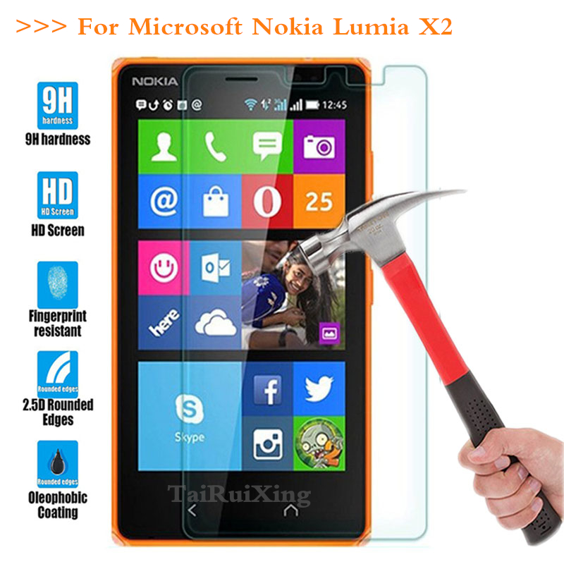 (TaiRuiXing) Screen Protector Film 0.3mm 9H 25D Front Premium Tempered Glass For Nokia Microsoft Lumia X2 Dual SIM <font><b>RM</b></font>-<font><b>1013</b></font> X2DS image