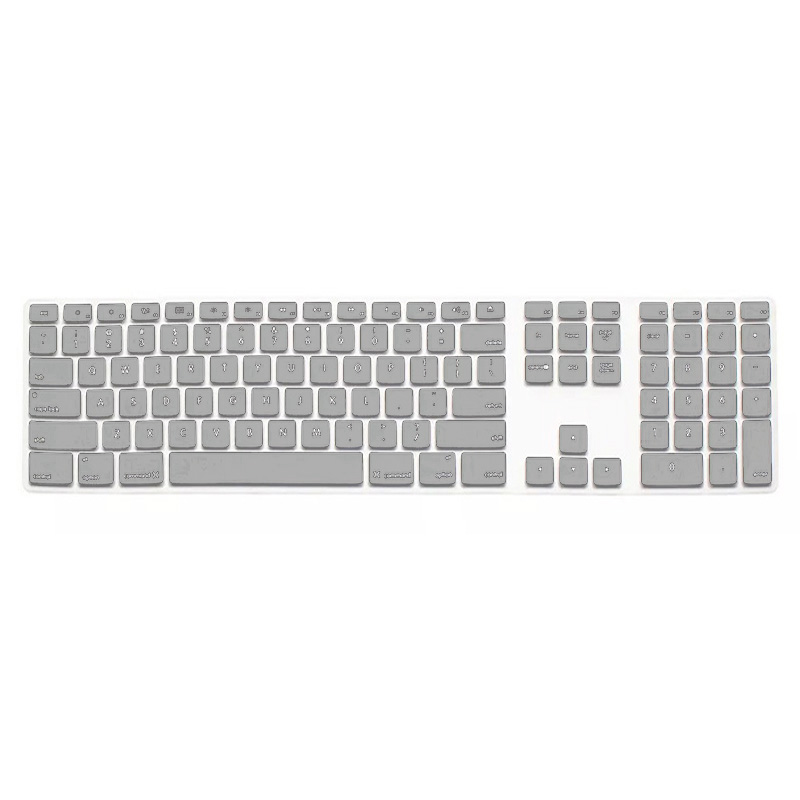 Silicone Thin Keyboard Skin Cover Protector With Numeric Keypad For Apple iMac (5 colors)