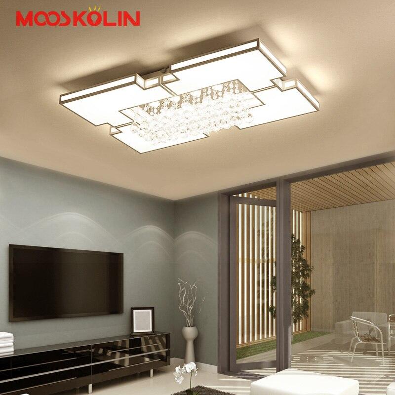 Maison nouveau moderne Led lustres pour salon chambre étude salle cristal lustre plafonnier maison déco plafond lustre avize