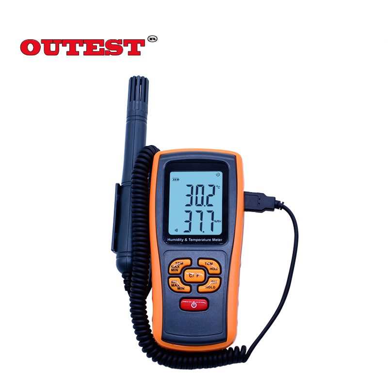 Portable GM1361+Digital thermo-hygrometer LCD display 2.5 Inch Separate temperature and humidity recorder