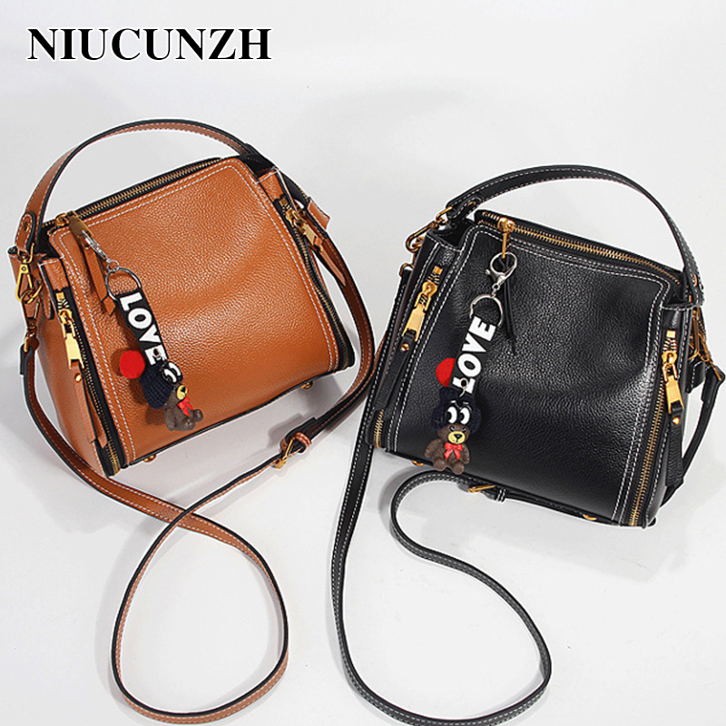 NIUCUNZH Fashion Design Women Leather Handbags Small Top-Handle Female Bags Simple Shoulder Bags For Lady Crossbody Bags 188