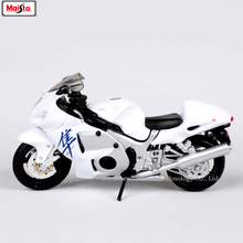 Maisto 1:18 SUZUKI GSX-1300R original authorized simulation alloy motorcycle model toy car цена