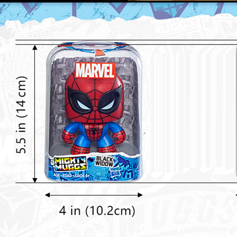 Original Hasbro Toys Change Face Mighty 15cm Thor Captain IronMan Spiderman PVC Actions Anime Figure Toys For children in Action Toy Figures from Toys Hobbies