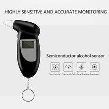 Профессиональный цифровой алкотестер дыхания Алкотестер Анализатор детектор брелок ЖК-дисплей Алкотестер измерители концентрации