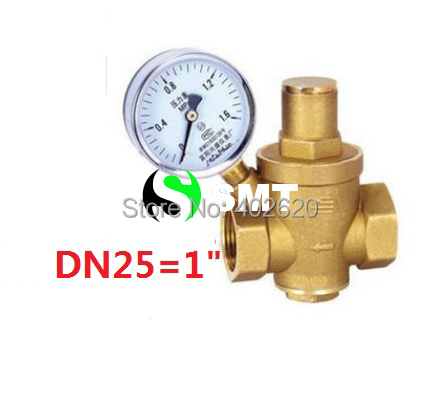 free shipping 1 Brass DN25 water pressure regulator with  gauge,pressure maintaining valve,water PRV pressure reducing valve 2dn50 brass water pressure regulator without gauge pressure maintaining valve tap water pressure reducing valve