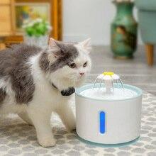 Автоматический фонтан для воды для домашних животных, кошек, светодиодный, электрический USB, для собак, кошек, домашних животных, бесшумная поилка, питатель, миска, 2.4л, питательный фонтан для домашних животных, диспенсер