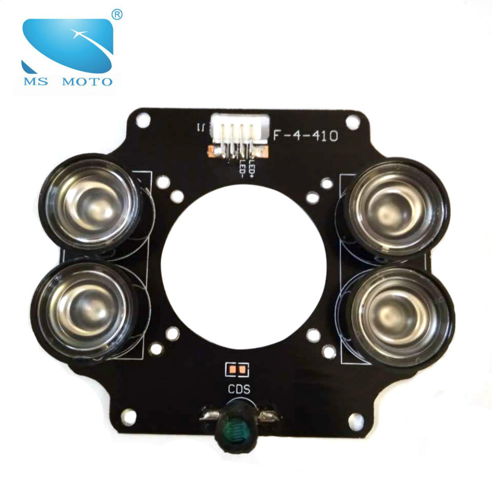 IR ILLUMINATOR INFRARED LIGHT BOARD CCTV IR CAMERA LIGHT BOARD 4PCS 42MIL HIGH POWER ARRAY IR LED WITH DRIVE BOARD цена