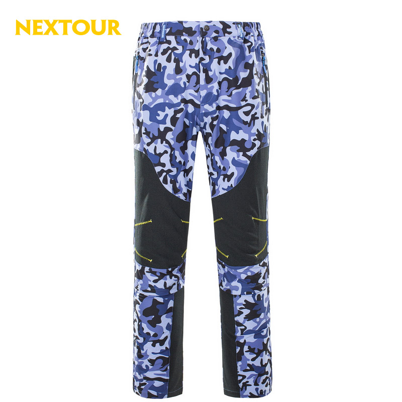 NEXTOUR 2in1 Men Trousers Camo Elastic Quick dry  Pants UV-proof Breathable Outdoor pants Beach hunting hiking sport males