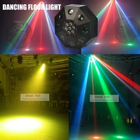 Eyourlife Free Shipping 2019 New Led Dancing Floor Light 120W RGBW Moving Head Stage Lighting DJ DMX Disco Laser Projector Light