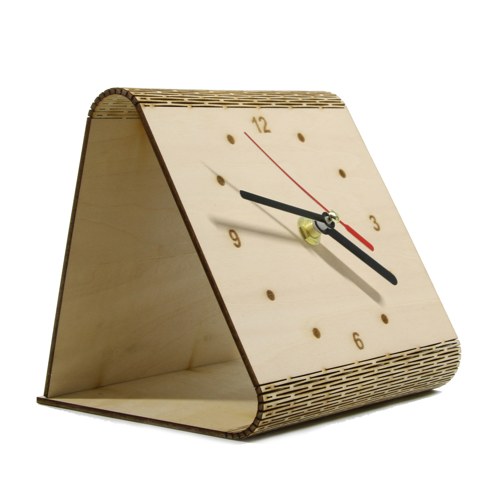 Us 10 5 11 Off 1piece The Flex Time Clock Diy Simple Desk Clock Modern Bedside Table Wooden Clock Personality Table Decorative In Wall Clocks From