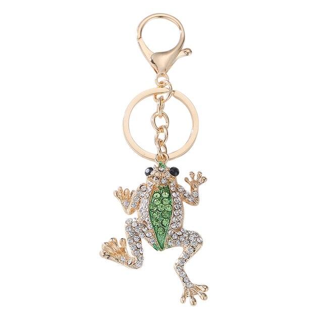 Unikalna korona żaba klucz brelok do kluczy z obręczą moda metalowa ręka torba wisiorek do torebki klamra do torby breloczki uchwyt akcesoria prezent brelok