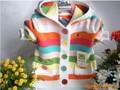 Free shpping Retail new 2014 spring autumn baby clothing Baby sweater girls sweaters baby outerwear kids stripe cardigan sweater