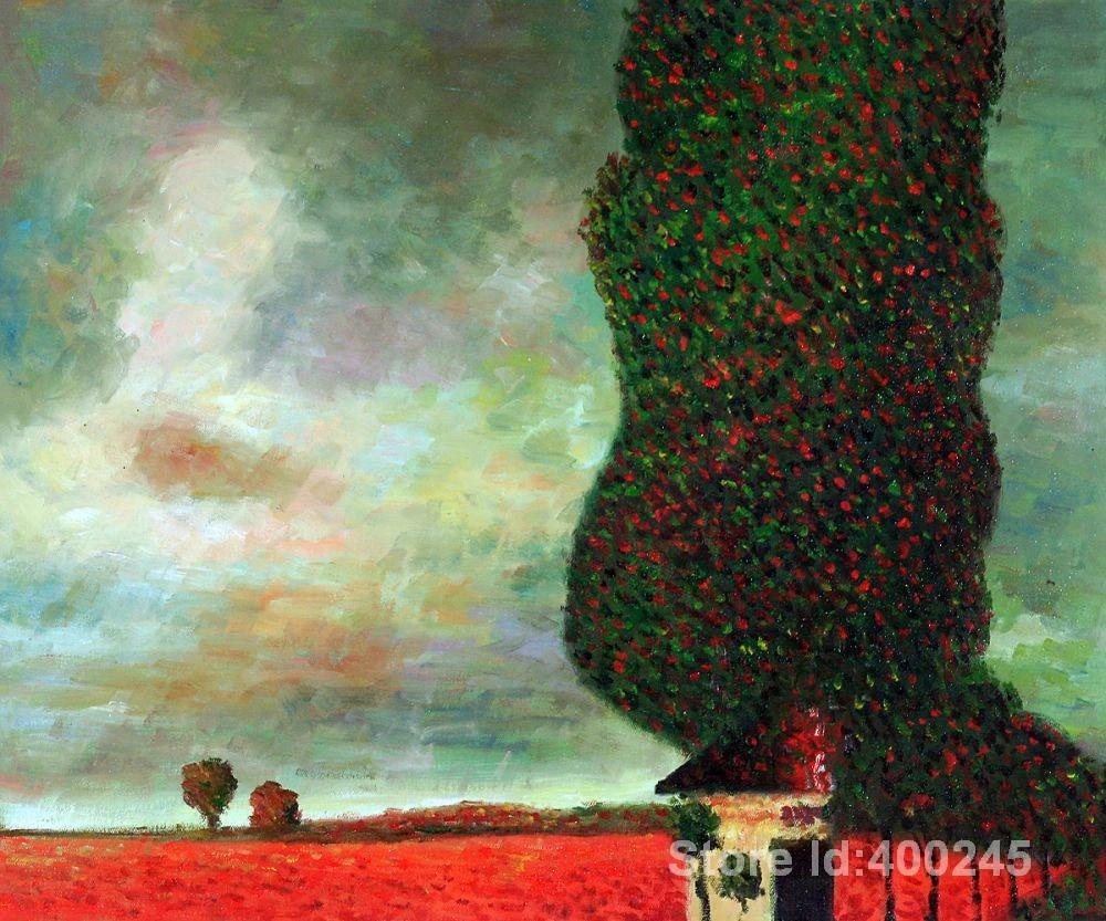 Opere d'arte di Gustav Klimt Alta Pioppo arte dipinti riproduzione a mano  di Alta Qualità artwork flowers paintingpainting heroes - AliExpress