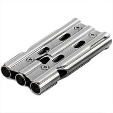 Outdoor sportswear stainless steel whistle 3 tube 120 decibel waterproof durable portable survival