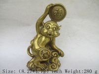 China's Tibet brass zodiac monkey blessing statues