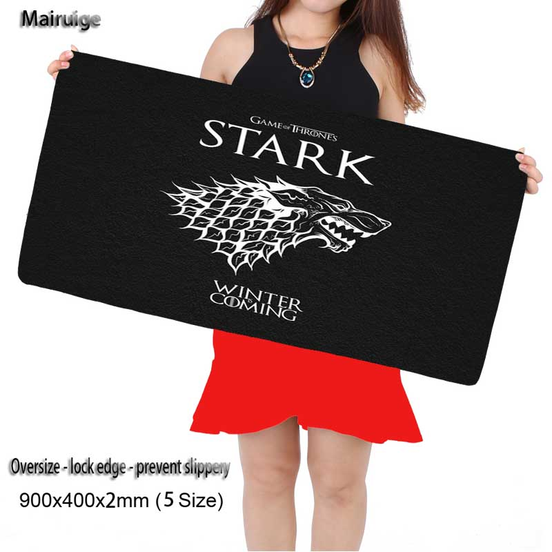 Mairuige Game of Thrones Free Shipping Rubber Movie 900*400*2 Mm Gaming Mouse Pad Mat Laptop Keyboard Mat XLFor CSGO Mouse Pads