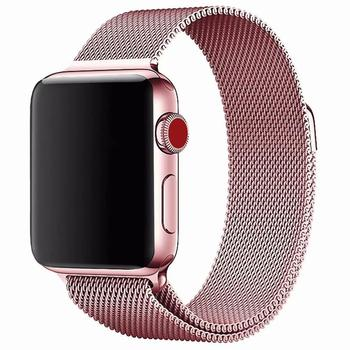 Watch Strap For Apple Watch Band Stainless Steel Bracelet Wrist Wristband 44 42mm 40 38mm Band Magnetic Metal smartwatch Strap цена 2017