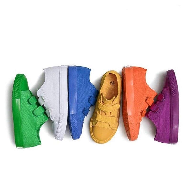 2018 Chidren Chaussures pour Filles Garçons Toile De Couleur de Sucrerie Enfants Chaussures de Course Sport Sneakers Bébé Garçons Chaussures sapato infantil menina