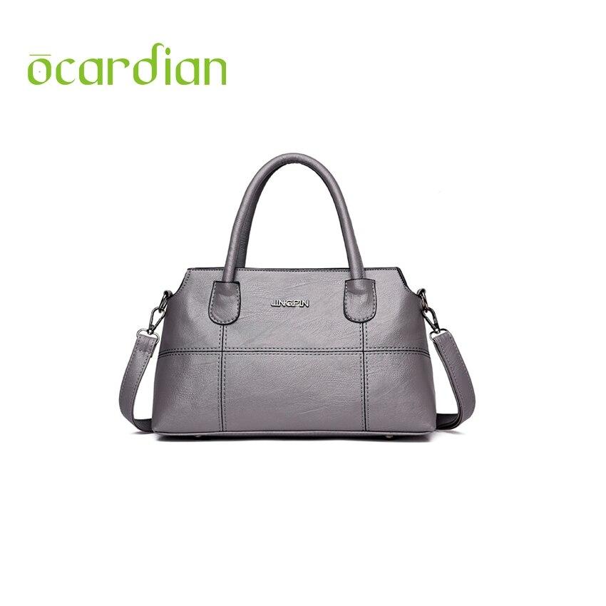 Ocardian Frauen Totes Leder Bag Splice Handtasche Mode Einfache Design Rose Hand Tasche Weibliche Schultertasche Frauen Taschen bolsas Eine 23