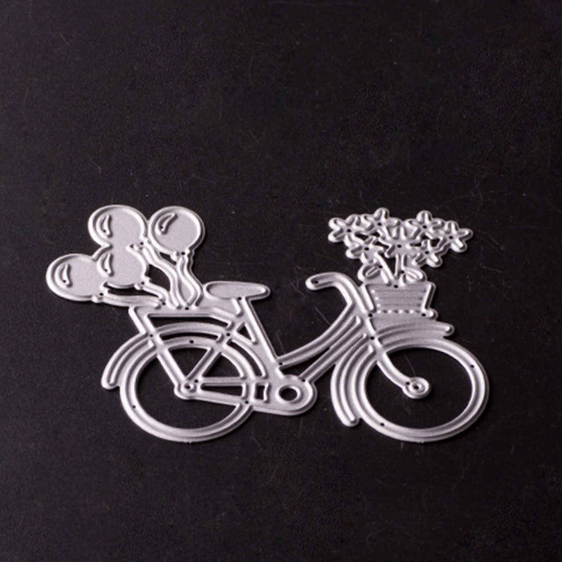 Pop  Bike Bicycle Metal Cutting Dies Stencil For Scrapbooking Paper Card Album Photo Craft Art Embossing Painting Decor