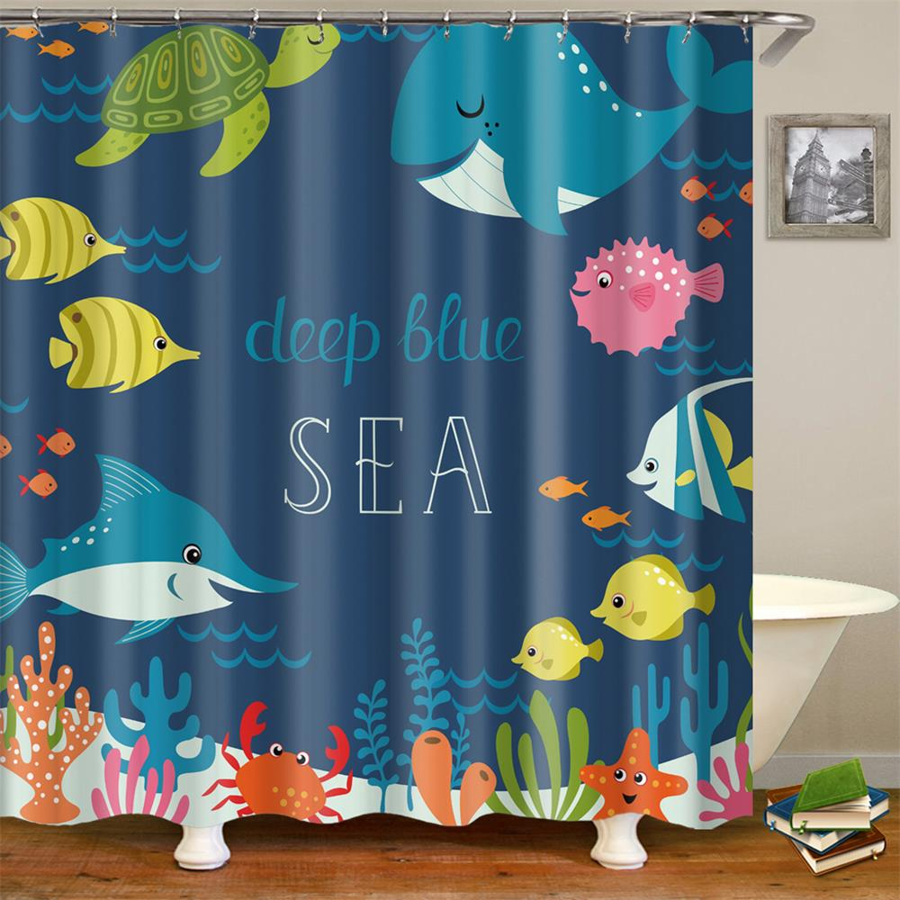 Image 5 - Kids Cartoon Shower Curtain Set Home Decor Owls on a Branch Art Polyester Fabric Bath Curtain with 12 Hooks Shower Curtains-in Shower Curtains from Home & Garden
