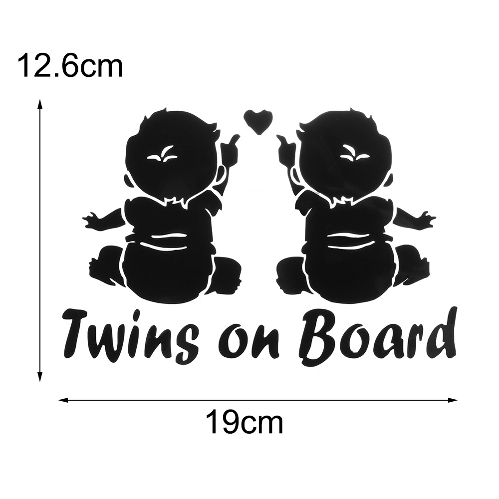 Car Sticker Decals Car Vehicle Twins Baby On Board For Automotive Vinyl Stickers For Cars Styling