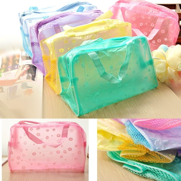 Waterproof Pouch Organizer Cosmetic-Bag Toiletries Travel-Package Bathing Household Women