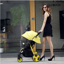 Baby stroller can sit reclining light umbrella portable folding stroller shock absorber baby stroller