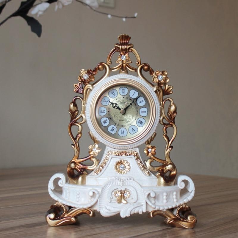 L'horloge de salon muette rétro créative européenne haute qualité décorative pendule horloge grande chambre assise
