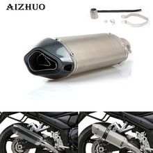 Universal Modified Motorcycle RACING Exhaust Pipe Moto escape Muffler for yamaha YZF R1 R3 R6 R125 R15 R25R MT 03 MT 07 MT 09 universal motorcycle modified exhaust muffler pipe for yamaha yzf r125 yzf r15 yzf r25 yzf r3 mt 02 mt 25 yzf r1 r1m mt 01