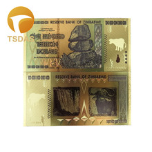 Original Replica 24K Gold Banknotes Colorful Souvenir Fake Bank Note Free Shipping