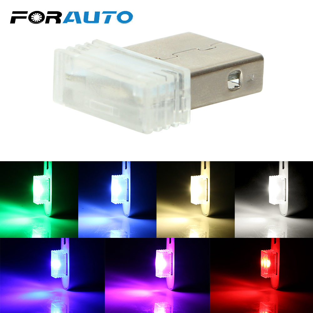 FORAUTO Mini USB Decorative Lamp Ambient Lamp Auto Interior Lights Emergency Lighting Neon Car LED Atmosphere Lights Car-styling