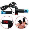 12-84V E-Bike Electric Scooter Throttle Handle with Digital Voltage Indicator