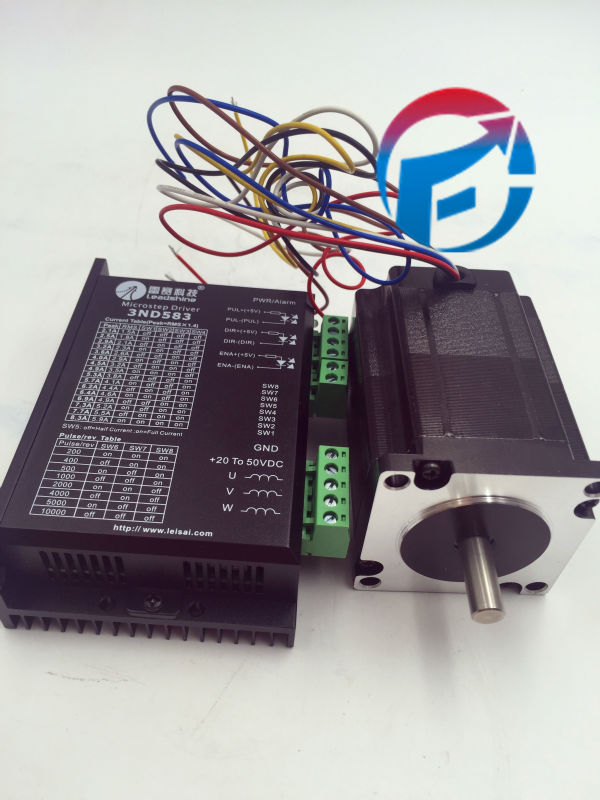 цена на Leadshine Stepper Motor Drive 2ph 5A 2.1NM NEMA23 57mm 4 Wire 24~50VDC For CNC Engraving Machine 57HS21A+M542-05