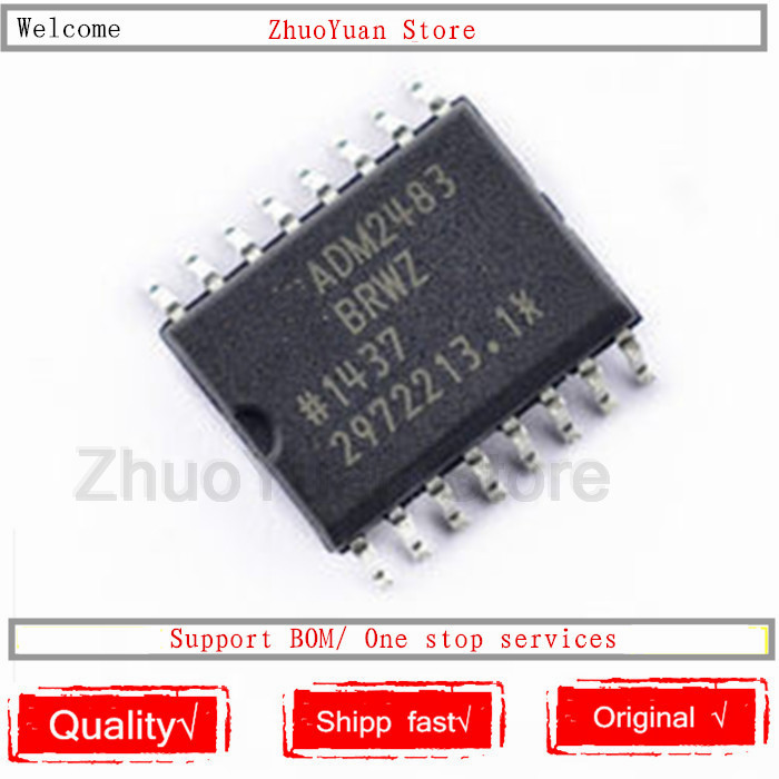 1PCS/lot ADM2483BRWZ ADM2483 ADM2483BRW New Original Chip SOP-16
