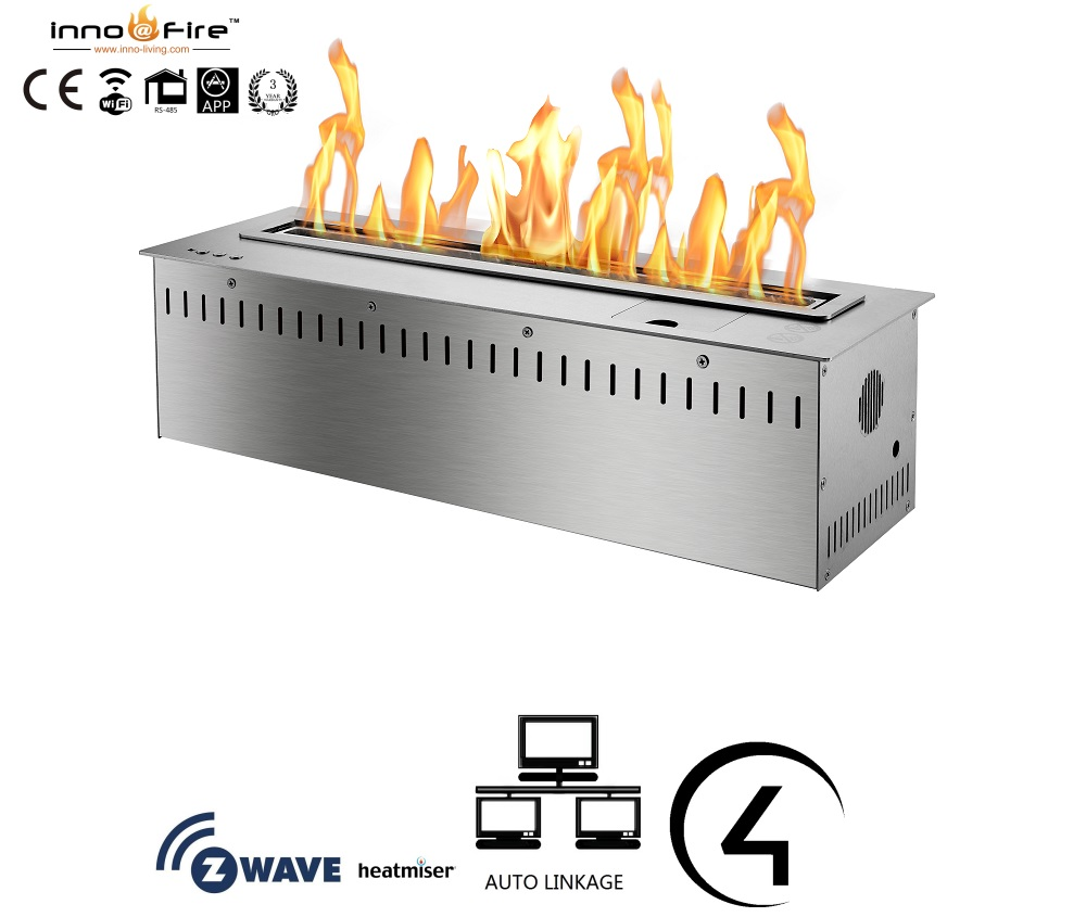 On Sale 36 Inch Linear Fireplace Electronic Smart Control Ethanol Fire