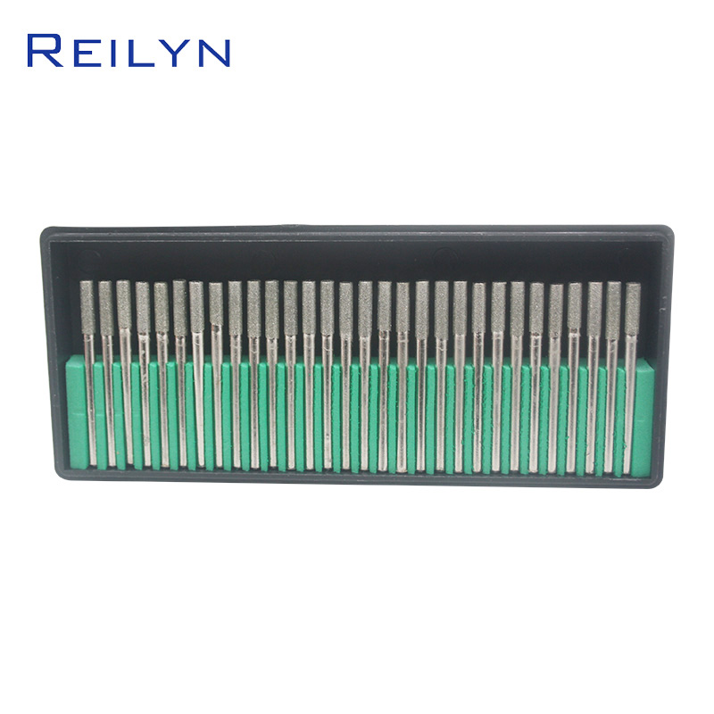 30 Pieces/Set Tool Abrasive Diamond Grinding Point 120# 3x3mm Jade Polishing Raw Stone Surface Peeling Diamond Grinding Bits