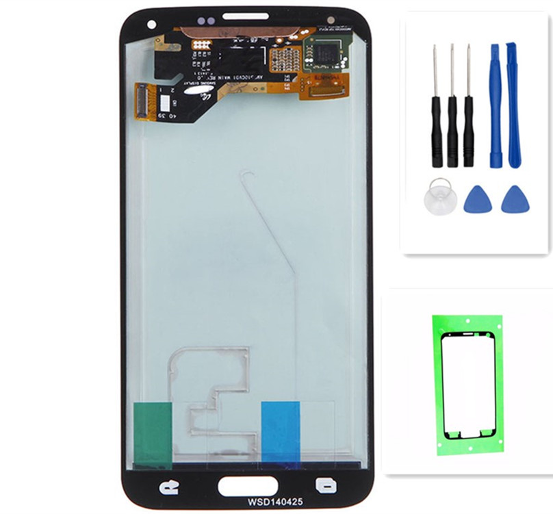 Coreprime Super AMOLED Replacement For Samsung GALAXY S5 G900 G900F LCD Display Touch Screen Digitizer Assembly+Tools