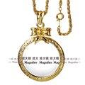 Band Новый Лук длинное ожерелье цепь С 2X Увеличительное Glasslong Кристалл ожерелье цепь Ежедневного Чтения Цели Круглое Окно