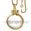 Band New Bow long chain necklace With 2X Magnifying Glasslong Crystal chain necklace Daily Reading Purpose Round Window