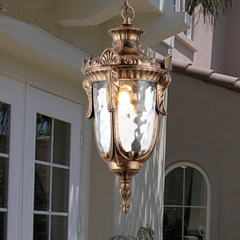 Outdoor Pendant Light Waterproof Suspension Lamp Black Brown Pendant Lamp Loft Garden Corridor Suspension Lamps Hanging Fixture