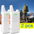 2 pçs/lote Branco KD-C1 Walkie Talkie UHF 400-470 MHz rádio transceptor portátil walkie talkie