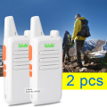 2pcs/lot White Walkie Talkie KD-C1 UHF 400-470 MHz transceiver portable radio walkie talkie