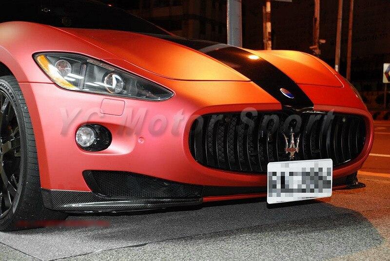 Accessoires de voiture fibre de carbone sèche mc-sport-line Style pare-chocs avant lèvre Spliter ajustement pour 2009-2013 Maserati GranTurismo lèvre avant