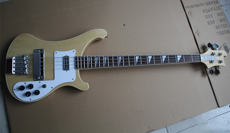 Fireharw Rickenback custom 4003 firglo 4 струны бас гитара burlywood ricken bass двойной выход чернила моно и стерео