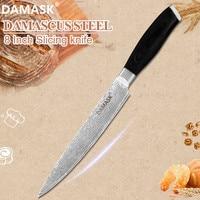 Damask 8 inch Super Sharp Blade Slicing Knife VG10 Damascus Filleting Knife Utility Kitchen Cooking Sashimi Meat Fish Knive Sale