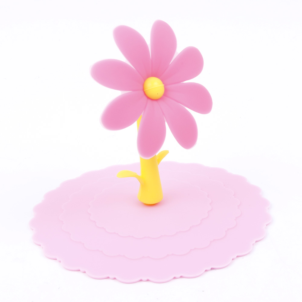 Cute Anti dust Silicone Saplings Cup Cover Coffee Cup Suction Seal ...